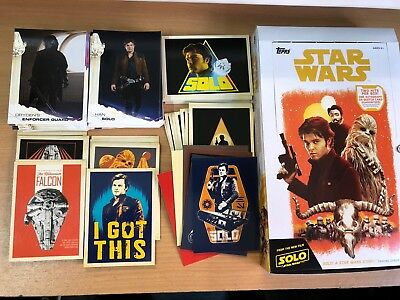 2018 Topps Solo A Star Wars Story Mini Master Set, Base & 5 Chase Sets 142 Cards