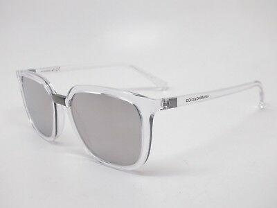 8eaf91115d87 Dolce   Gabbana DG 6114 3133 6G Crystal with Light Grey Silver Mirror  Sunglasses