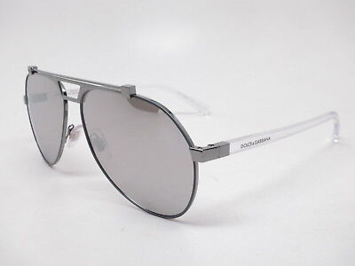 ad4d5434f217 DOLCE   GABBANA DG 2189 04 6G Clear Matte Gunmetal with Silver Mirror  Sunglasses -  171.14