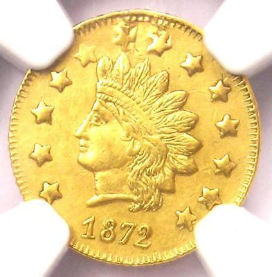 1872 Indian California Gold Dollar G$1 BG-1207 - NGC Uncirculated Dets (UNC MS)!