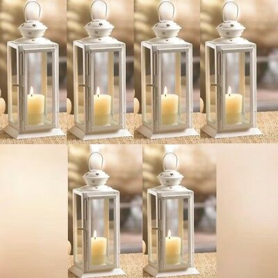 15 Lot Starry Cutout Lantern 8 Small White Candle Holder Wedding