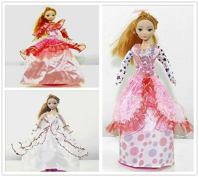 Handmade Party Whitep Dress Fashion Clothes For Barbie Doll Outfit Gown Wedding