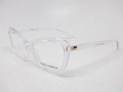 95d0535b88f3 AUTHENTIC DOLCE   Gabbana DG 5039 3133 Crystal Eyeglasses 52mm ...