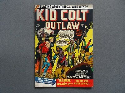 KID COLT OUTLAW #12 Golden Age Western Comic Book 1951
