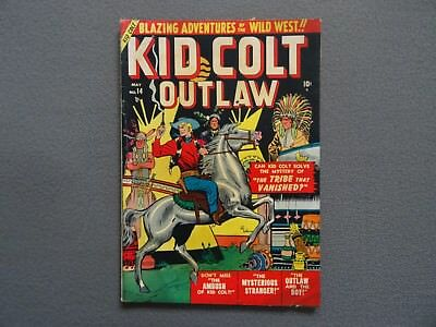 KID COLT OUTLAW #14 Golden Age Western Comic Book 1951