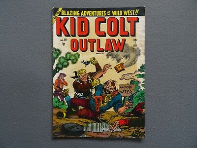 KID COLT OUTLAW #19 Golden Age Western Comic Book 1951