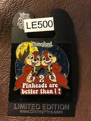 """Disney DLR Chip & Dale """"2 Pinheads Are Better Than 1"""" LE500 Pin"""