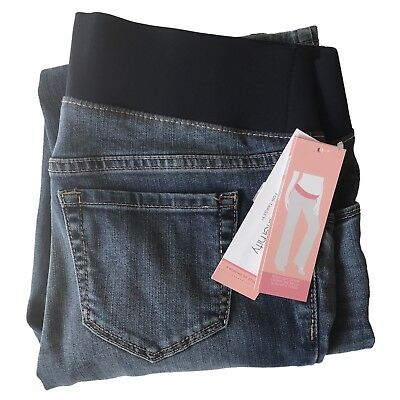 927fb3a37a0ab Like us on Facebook · New Liz Lange Size 2 Maternity Jeans Boot Cut Under Belly  Pregnancy Denim NWT