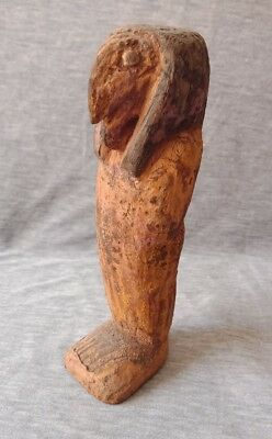 Ancient Egyptian Rare Faience Statue of Khnum wood Egypt antiques