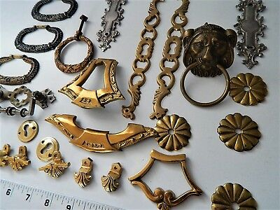 Lot,Parts Antique/Vintage French Furniture,Ornament,Cupboard,Clock,bronze,brass