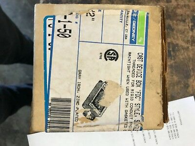 O-Z/ Gedney FDC-1-50; Cast device box; FDC style; single gang