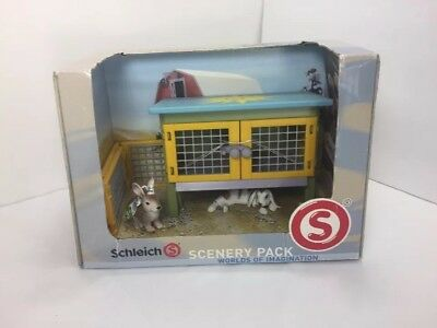 RABBIT SCENERY PACK by Schleich/41800/bunny/hutch/EASTER/RETIRED
