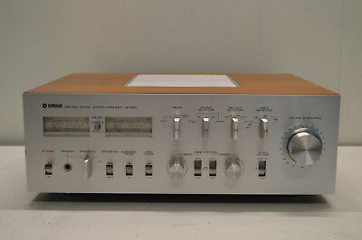 vintage YAMAHA CA-2010 INTEGRATED STEREO AMPLIFIER LOOKS  !!GREAT BUT NO SOUND!!