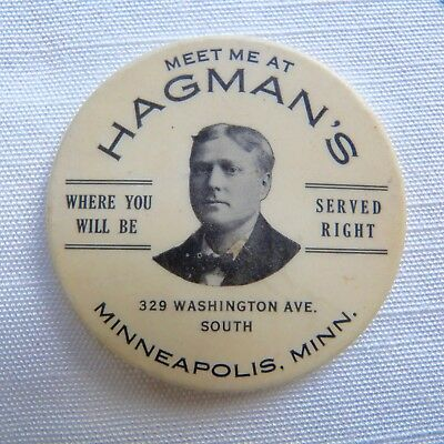 Minneapolis Minnesota Hagman's advertising pocket mirror - MN