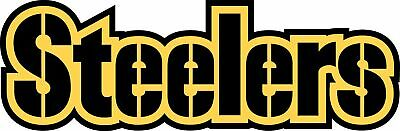 Pittsburgh Steelers TEXT Logo Vinyl Decal / Sticker 5 sizes!!