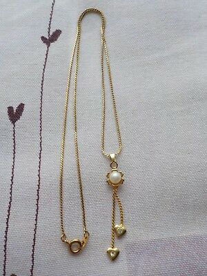 Vintage Necklace With Faux Pearl And Hearts Metal Detecting Find