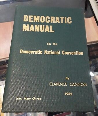 Vintage Democratic Manual for the DNC by Clarence Cannon 1952