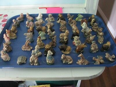 54 Red Rose Tea Wade Figures Lot  Nursery Rhymes  And Animals  Assorted