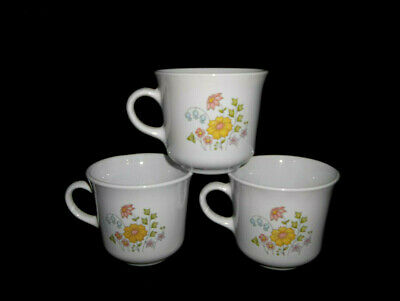Corelle Spring Meadow Set of 3 Cups with Saucers