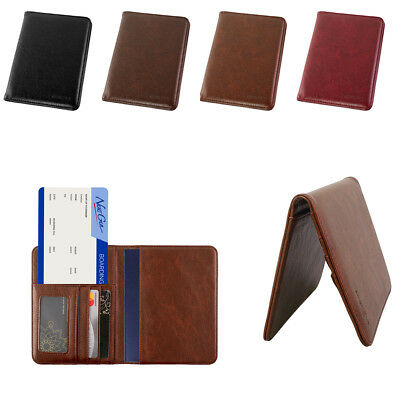 Premium PU Leather Travel Wallet Passport Holder RFID Blocking Cards Case Cover