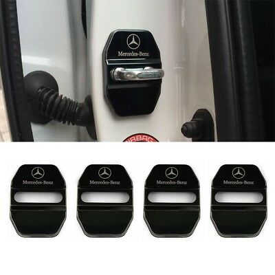Stainless Black Car Door Lock Ring Protective Cover For Mercedes Benz