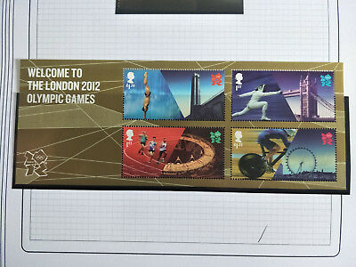 GB 2012  Welcome to the London 2012 Olympic Games Mini Sheet MNH