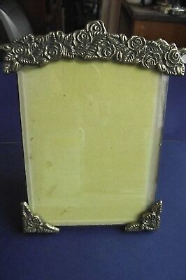 """Vintage Brass Picture Fame With Bevel Glass 5"""" x 7"""" Overall"""