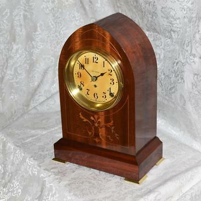 Antique Seth Thomas Inlay Wood Beehive Mantel Clock. Restored. Serviced