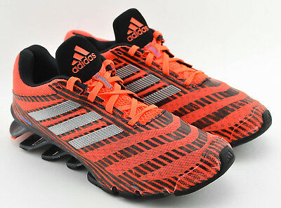 finest selection de799 3799b ... uk mens adidas springblade running shoes size 7.5 orange black silver  693f2 566a2