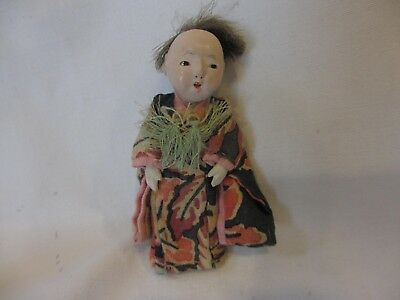 Vintage Antique Chinese Japanese Asian Composition Doll