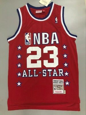 6a4b50a5c NEW MEN S Michael Jordan 1989 All Star NBA Jersey Red Size S M L XL XXL
