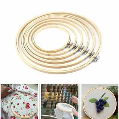 Handy Wooden Cross Stitch Machine Embroidery Hoop Ring Bamboo Sewing 13-30cm S1