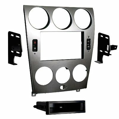 Metra 99-7523S 2003-2005 Mazda 6 Double and ISO DIN Radio Install Kit Silver