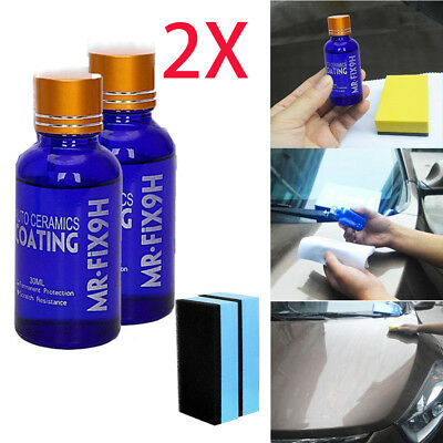 Car Anti Scratch Hydrophobic Glass Coating Liquid Ceramic Paint Care 9H Mr-Fix