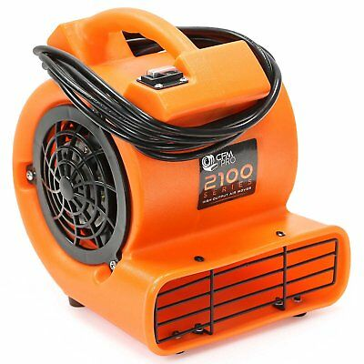 CFM Pro Mini Air Mover Carpet Floor Dryer 1/12 HP Blower Fan - Orange - Water