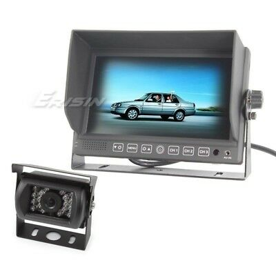 """7"""" HD Monitor Color TFT LCD+CCD Reverse Camera Truck For Bus Caravan 312AS"""