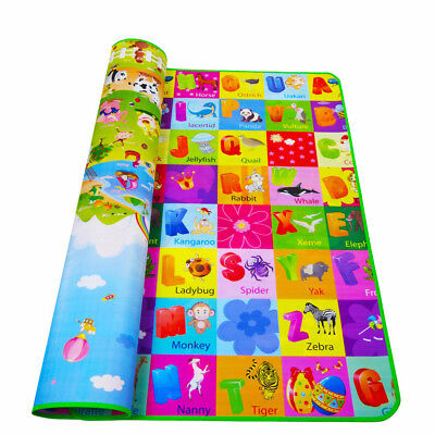 Cartoon Baby Crawling Educational Game Kid Children Play Mat Soft Foam Carpet UK
