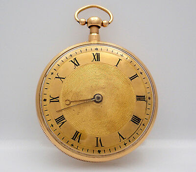 RARE FIND! Early 1800s 59mm Gold Musical Pocket Watch w/ 1/4 Hour Repeater.