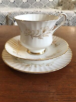 "Vintage Paragon ""Lafayette"" Bone China Trio Cup Plate and Saucer Set"