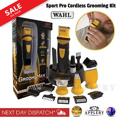 New Wahl Sport Pro Cordless Beard Trimmer Rechargeable Hair Clipper Body Groomer