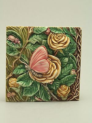 Harmony Kingdom Byron's Secret Garden Picturesque Mayfly Madame tile HandCrafted