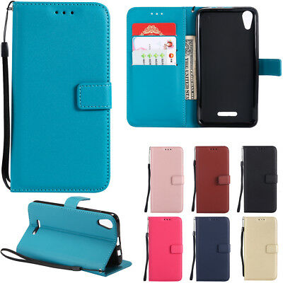 For Wiko Lenny 2 3 4 Flip Leather Case Magnetic Card Slot Wallet Stand Cover