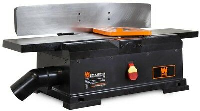 Wen Benchtop Jointer 6 in. Table 10 Amp Spring-Loaded Blade Guard Cast Iron Base