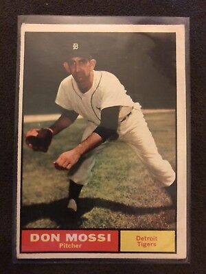1961 Topps Baseball Card Detroit Tigers #14 Don Mossi