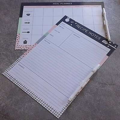 PLANNERS COMBO DEAL 1  x 2 FULLY MAGNETIC-WRITE & WIPE.+ PENS & CLIPS.  ITEM 68