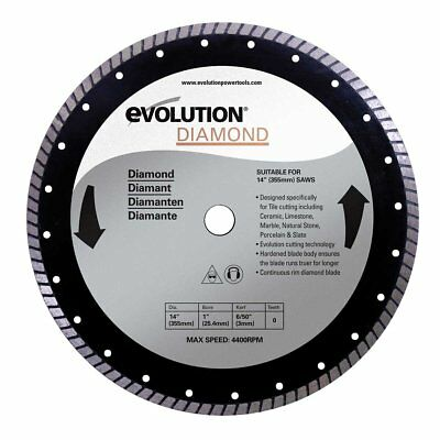 Evolution Power Tools 14BLADEDM 14-Inch Diamond Masonry Blade with 1-Inch Arbor