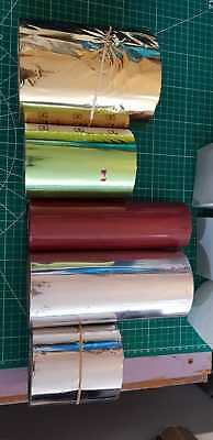 5 x Hot Foil Rolls - Stamping Blocking Foil - silver, burgany red, gold