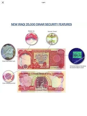 100,000 Iraqi Dinar (Iqd) - Uncirculated Official Iraq Currency - Authentic