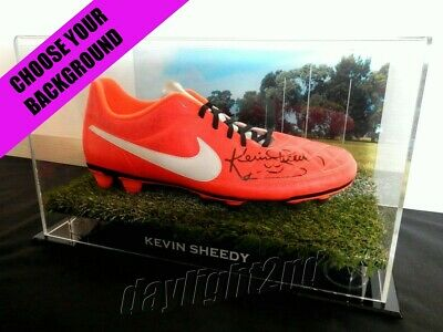 ✺Signed✺ KEVIN SHEEDY Boot COA Essendon Bombers Richmond Tigers 2018 Guernsey