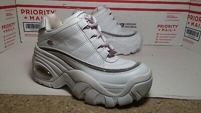 Vtg White Spice Girls Club Kid Rave Skechers Platform Sneakers Womens Sz 7.5